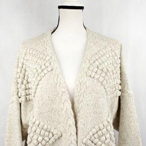 ✨VTG✨ 80s Textured Knit Cardigan